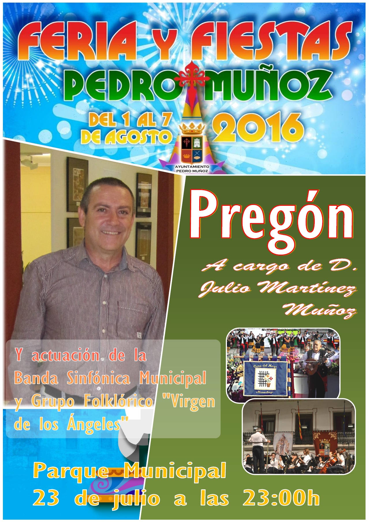 Julio Martínez Muñoz será pregonero de la feria y fiestas 2016 de Pedro Muñoz
