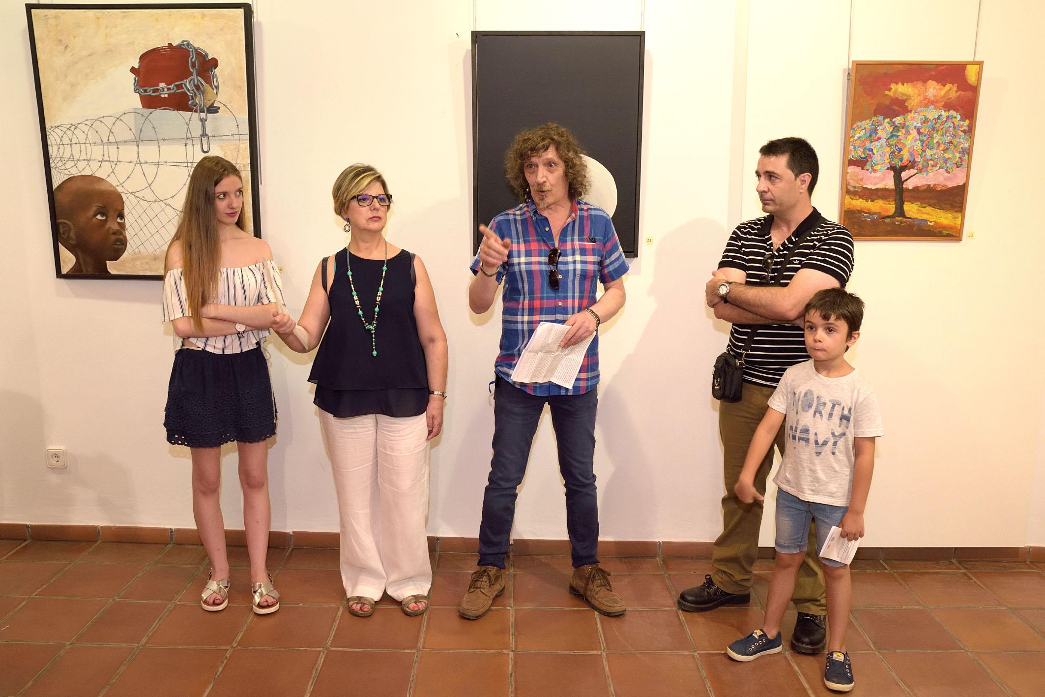 'Sin influencias' es la primera exposición de Julián Díaz en Argamasilla de Alba