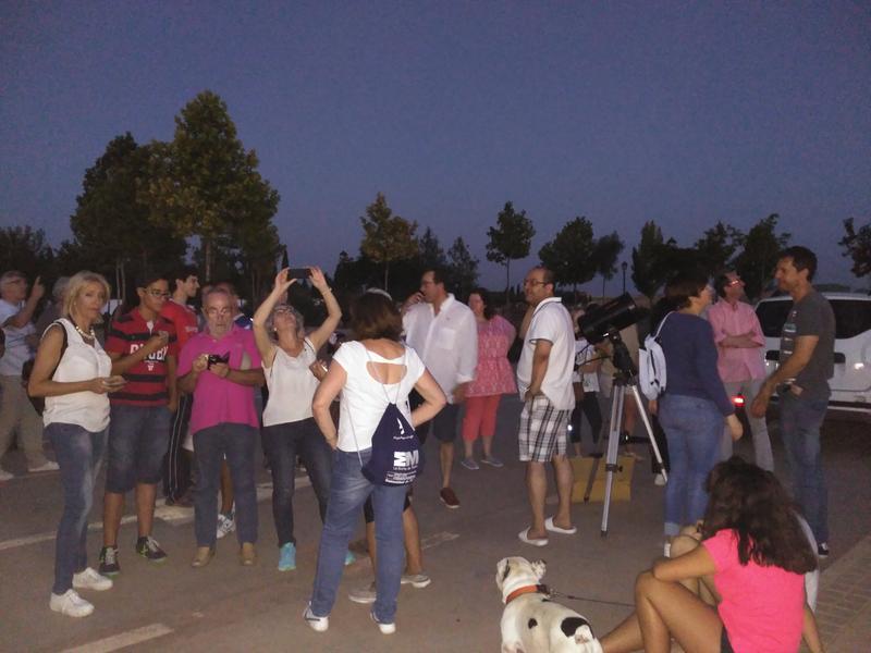 Éxito de participación en la novedosa actividad 'Noche de estrellas en el corazón de La Mancha'