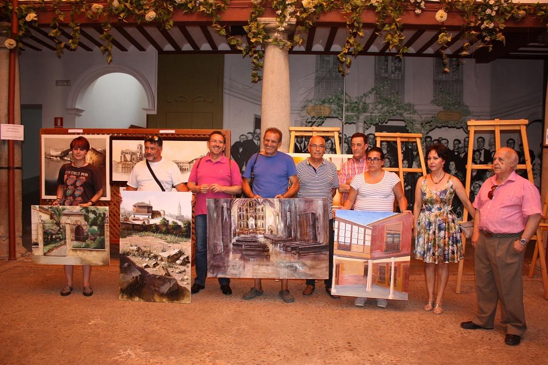 Orencio Murillo y María González primeros premios nacional y local del IV Concurso de Pintura Rápida de La Solana