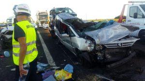 Grave accidente en la A-4 a su paso por Manzanares / Emergencia