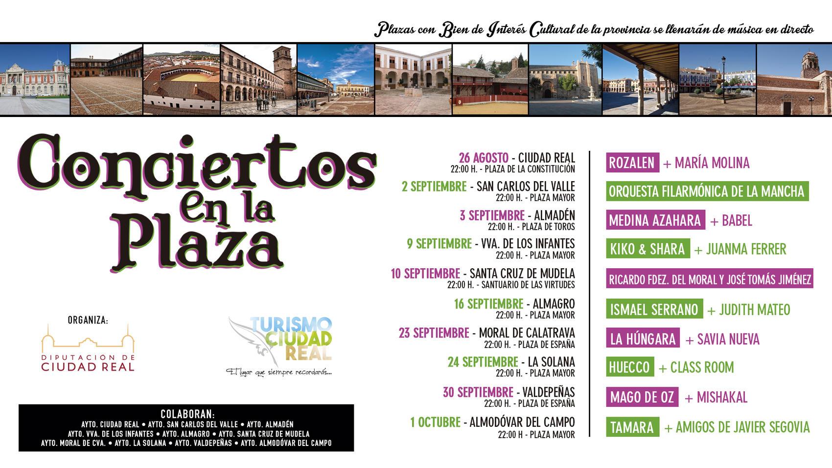 """La Diputación promueve el atractivo turístico y patrimonial de la provincia con los """"Conciertos en la Plaza"""""""