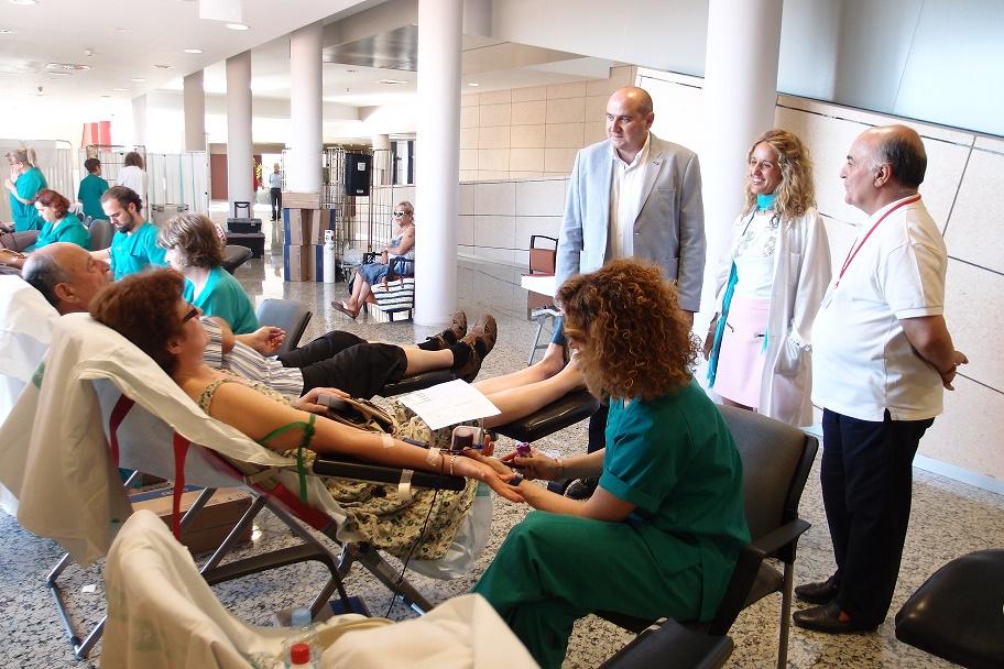 Gran éxito en la primera colecta de sangre que alberga el Hospital de Tomelloso