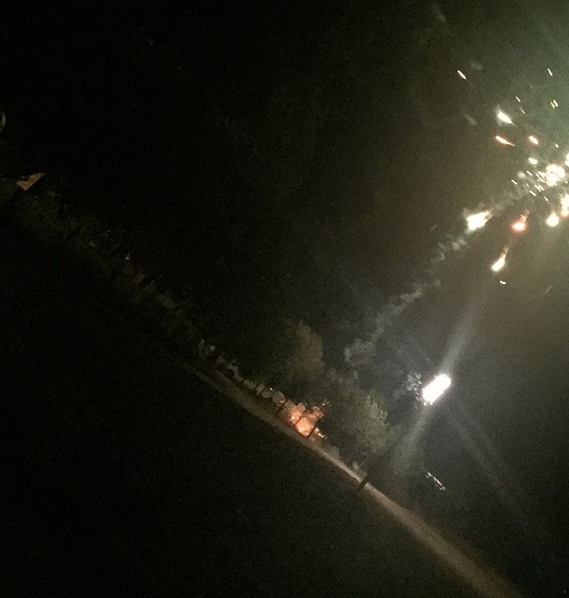 Fuegos Artificiales en las fiestas de San Lorenzo, Alameda de Cervera