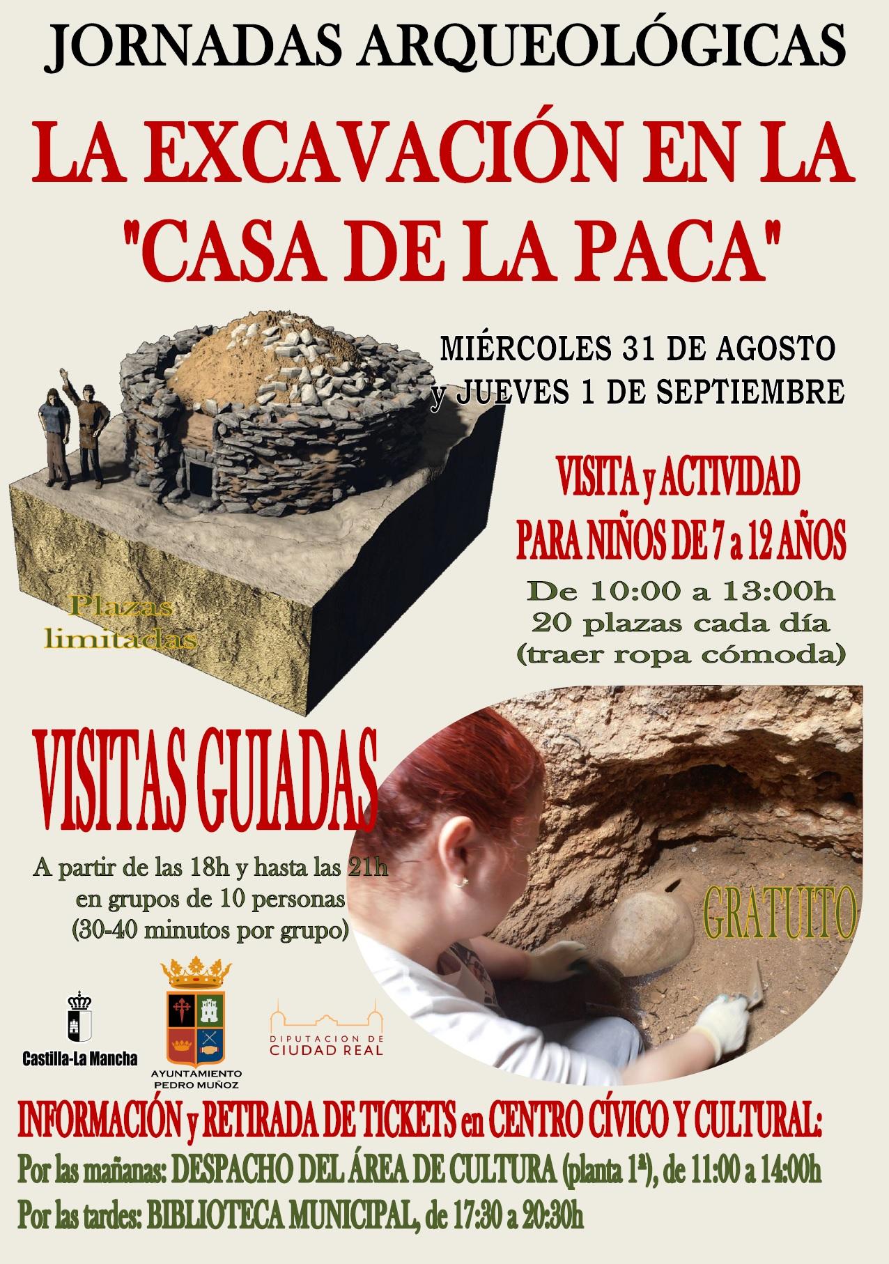 Jornadas arqueológicas en Pedro Muñoz sobre «La excavación en la Casa de la Paca»