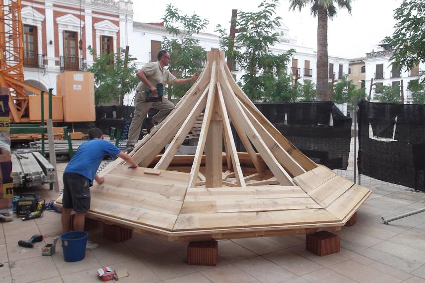 Montaje estructura de madera
