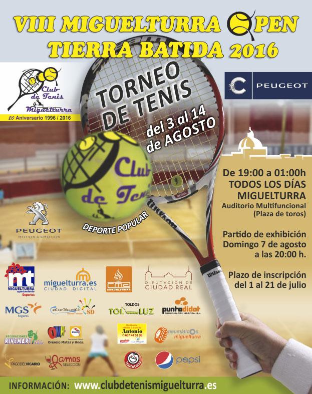 Octava edición del Open de Tenis de Tierra Batida Ciudauto del 3 al 14 de agosto
