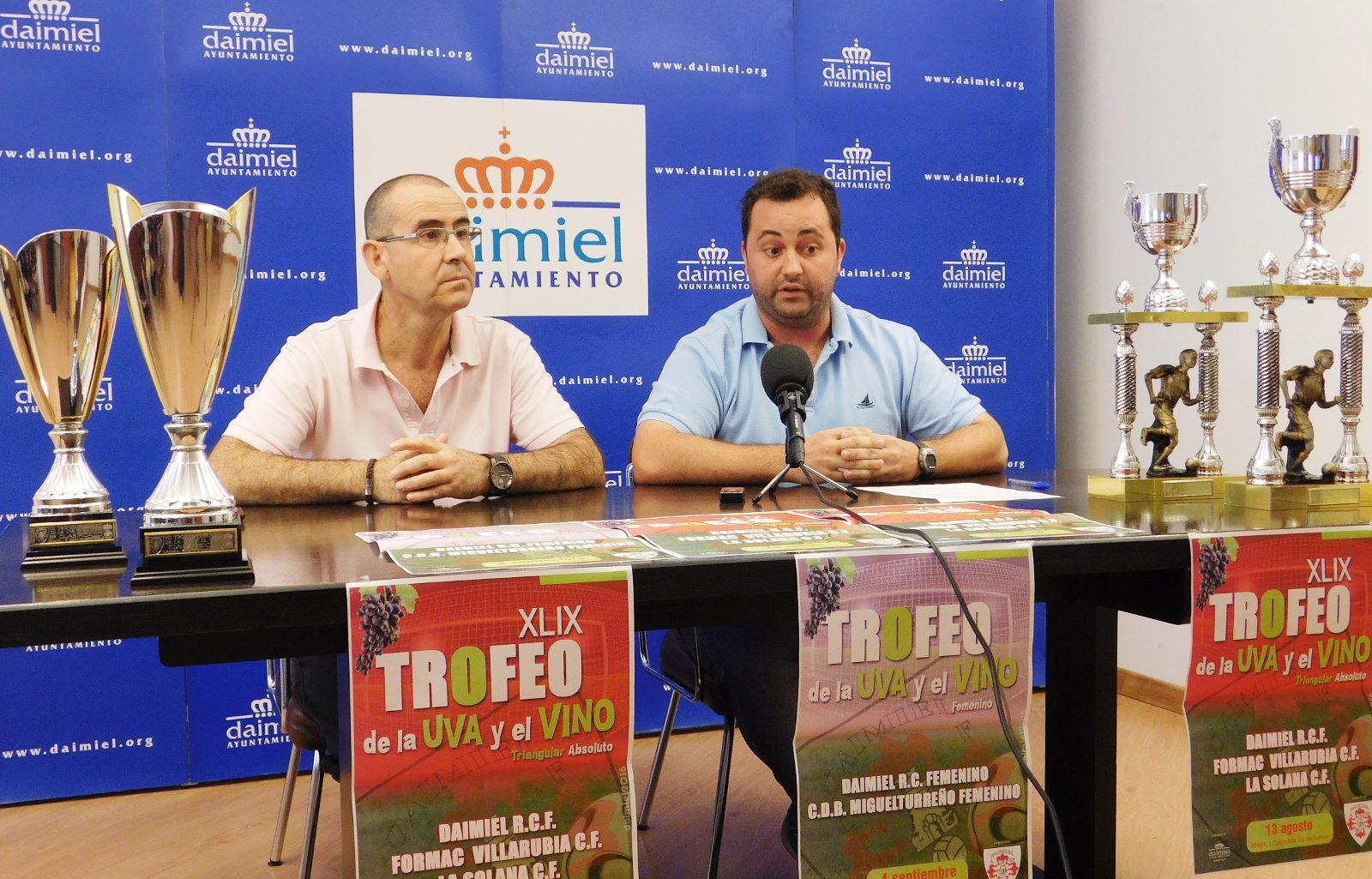 El trofeo de 'La Uva y el Vino' enfrentará al Daimiel RCF con La Solana CF y el Formac Villarrubia