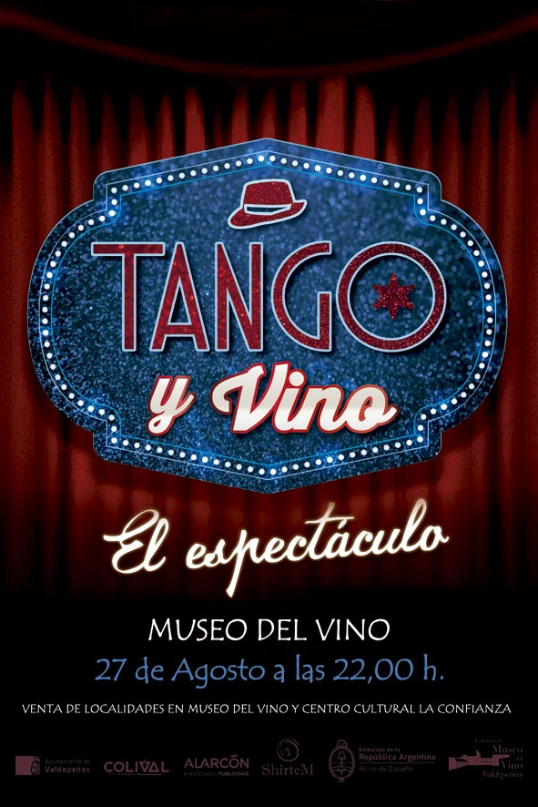 """""""Tango y Vino: El espectáculo"""" llega este sábado 27 al Museo del Vino de Valdepeñas"""