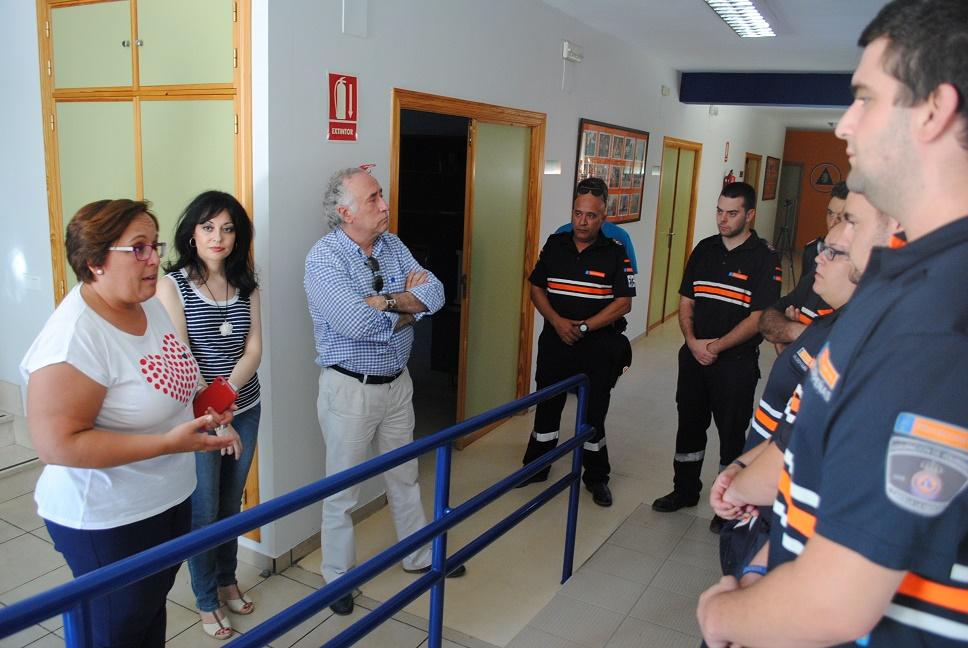 Teresa Olmedo en Protección Civil Valdepeñas