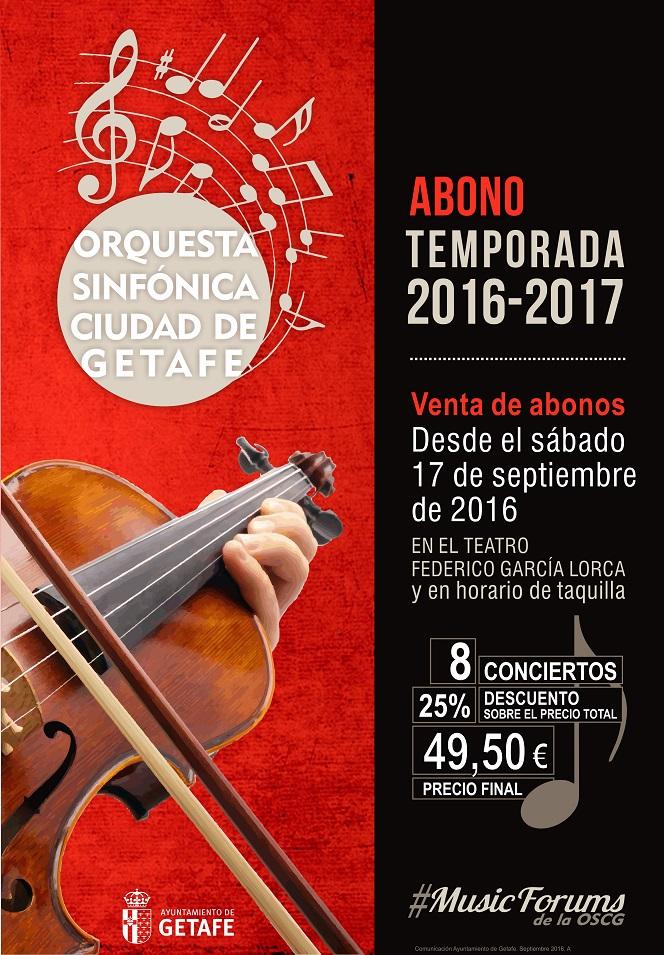 El Ayuntamiento de Getafe ofrece por primera vez un abono para los conciertos de la «Orquesta Sinfónica Ciudad de Getafe»