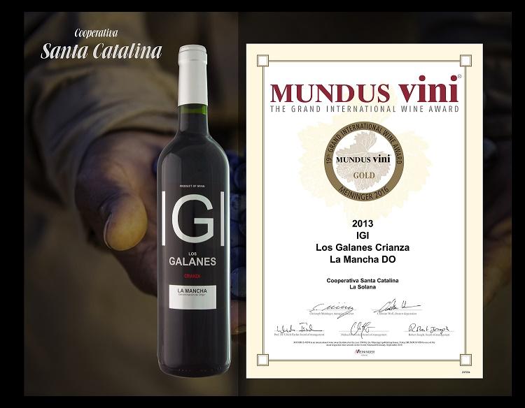 Los Galanes Crianza arrasa con una medalla de oro en el prestigioso concurso Mundus Vini de Alemania