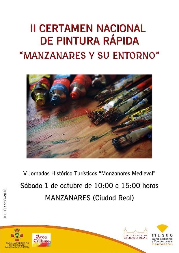 """II Edición del Certamen Nacional de Pintura Rápida """"Manzanares y su entorno"""""""