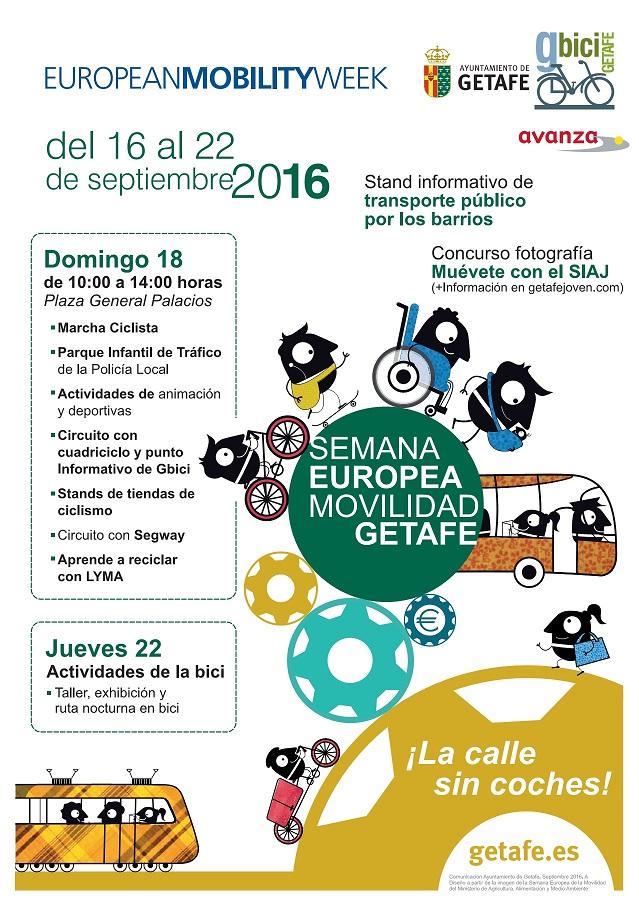 Getafe celebra la Semana Europea de la Movilidad con el lema «Movilidad inteligente. Economía fuerte»