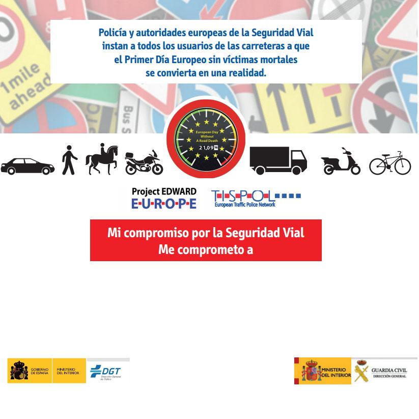 Miércoles 21 de septiembre: Día Europeo sin víctimas mortales por accidente de tráfico