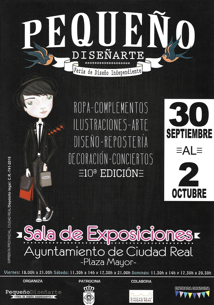 """La Sala de Exposiciones del Ayuntamiento acogerá este fin de semana la X edición de """"Pequeño Diseñarte"""""""