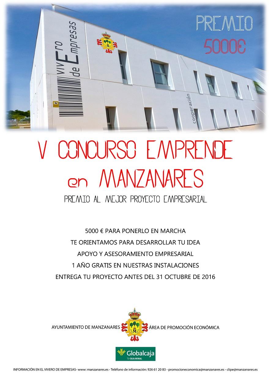 """El día 31 finaliza el plazo para participar en el V Concurso """"Emprende"""" en Manzanares"""