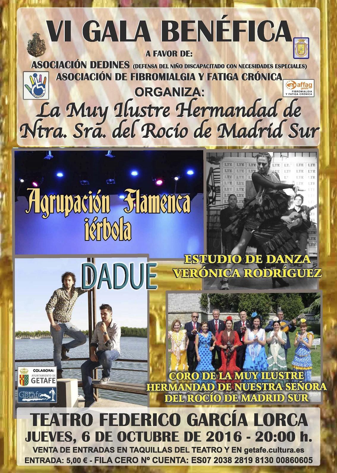 VI Gala Benéfica de la Hermandad del Rocío de Madrid Sur