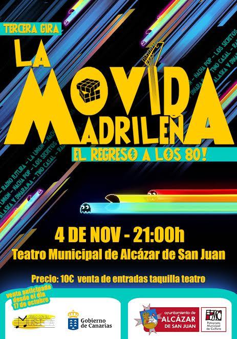 """La comedia musical """" La Movida madrileña, el regreso a los 80 """" aterriza en Alcázar de San Juan"""