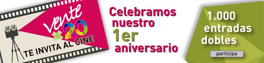 """La campaña """"Ventex20"""" de la Comunidad de Madrid sortea 1.000 entradas dobles de cine en el primer aniversario del Abono Joven a 20€"""