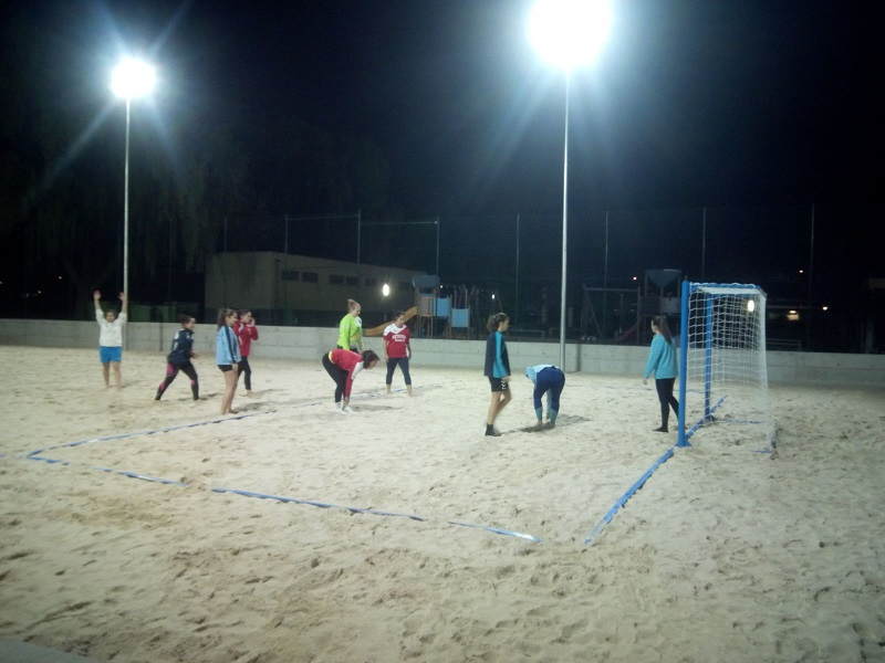 Getafe ha recepcionado las nuevas pistas para el balonmano playa