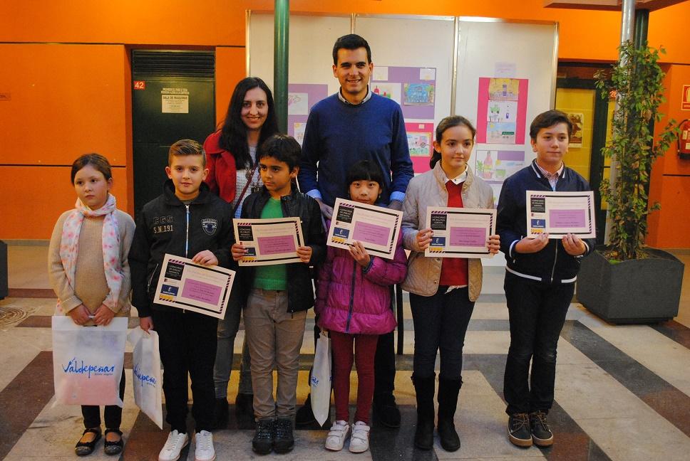 Entregados los premios de dibujo infantil y relato corto del Día Europeo del Enoturismo de Valdepeñas