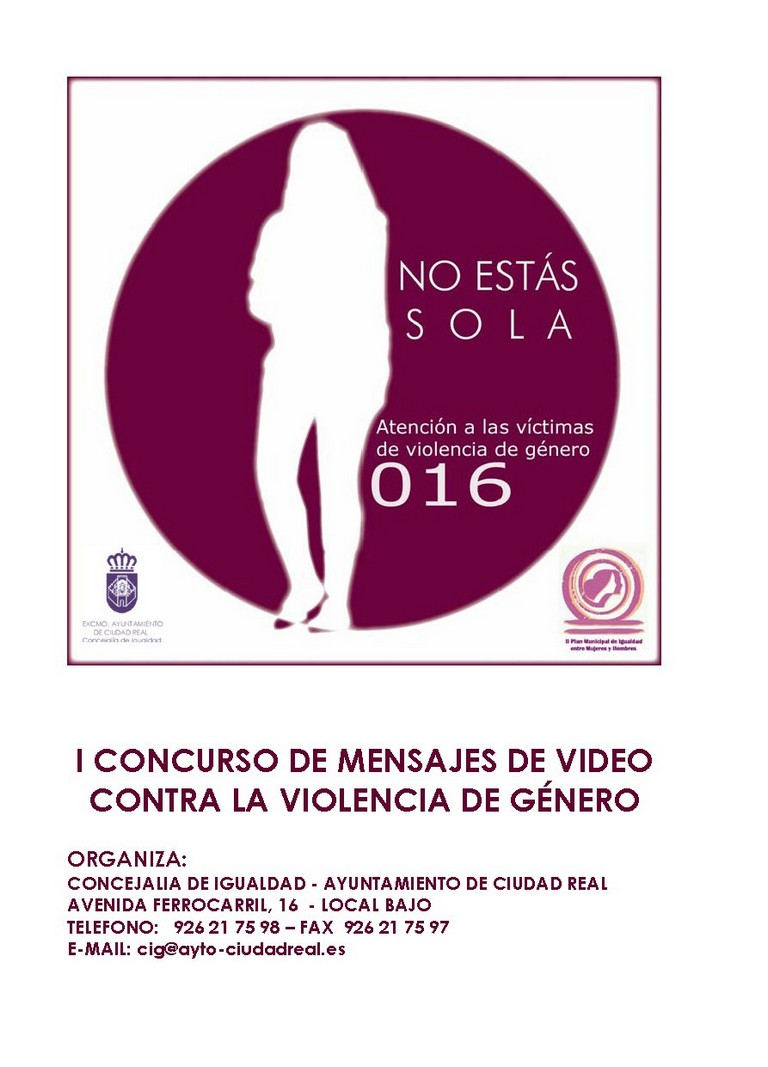 Igualdad pone en marcha el I Concurso de Mensajes de Video contra la Violencia de Género