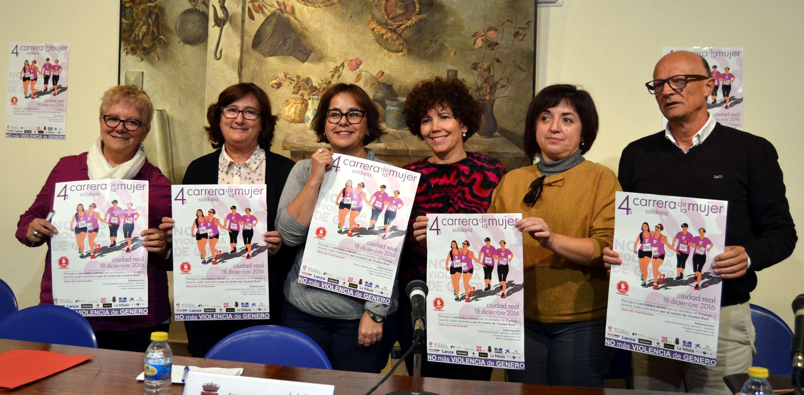 La 4ª Carrera de la Mujer Solidaria de Ciudad Real, este año contra la violencia de género, se celebra el 18 de diciembre