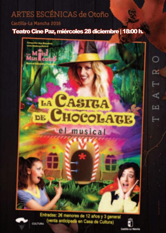 La Casita de Chocolate «El Musical» llega esta Navidad a Miguelturra