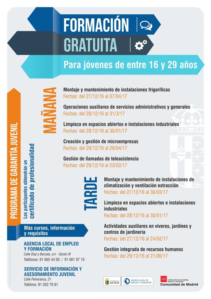 El Ayuntamiento de Getafe ofrece formación gratuita para 525 jóvenes en Getafe