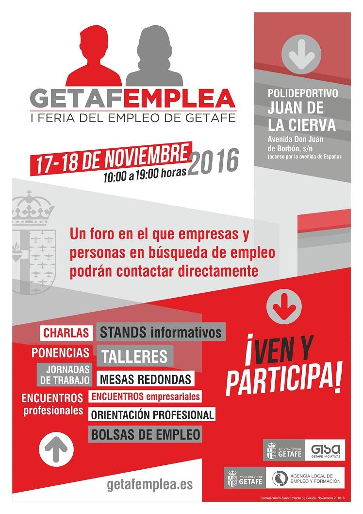 ' GETAFEMPLEA ' ofrece ofertas de trabajo para vecinos y vecinas de la ciudad