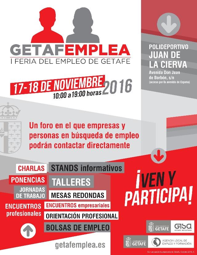 Getafe celebra la I Feria del Empleo 'Getafemplea' los días 17 y 18 de noviembre