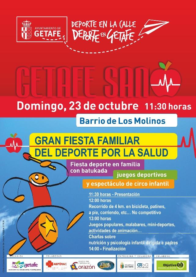 El barrio de Los Molinos de Getafe acoge el domingo la gran fiesta del deporte por la salud
