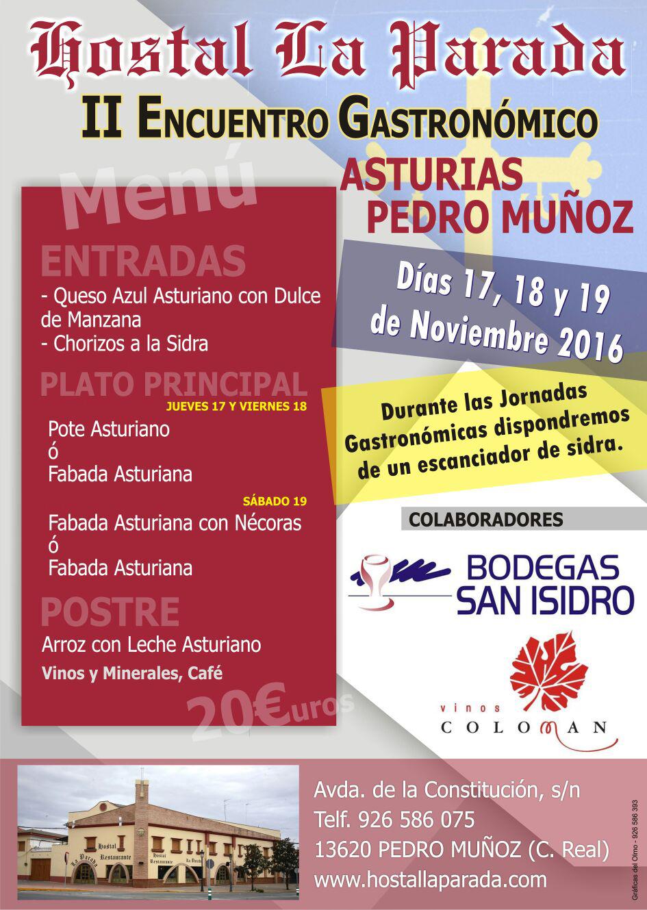 Un año más el Hostal la Parada de Pedro Muñoz nos acerca a Asturias