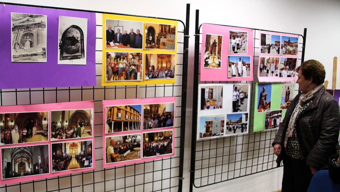 La historia de la Hermandad den la exposición de las jornadas santiaguistas de La Solana
