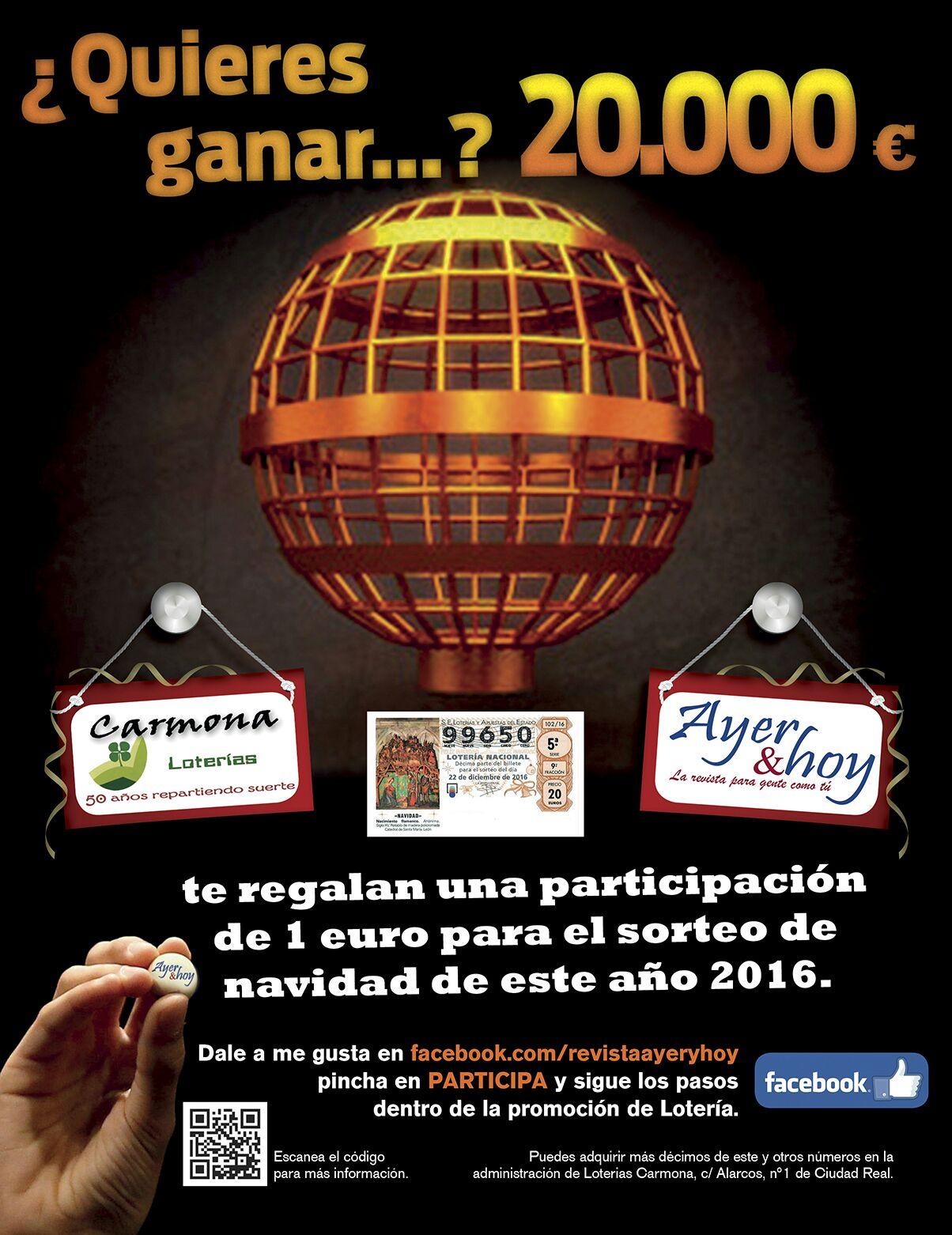 Ayer & hoy y Loterías Carmona vuelven a regalar la ilusión del Gordo de la Lotería de Navidad