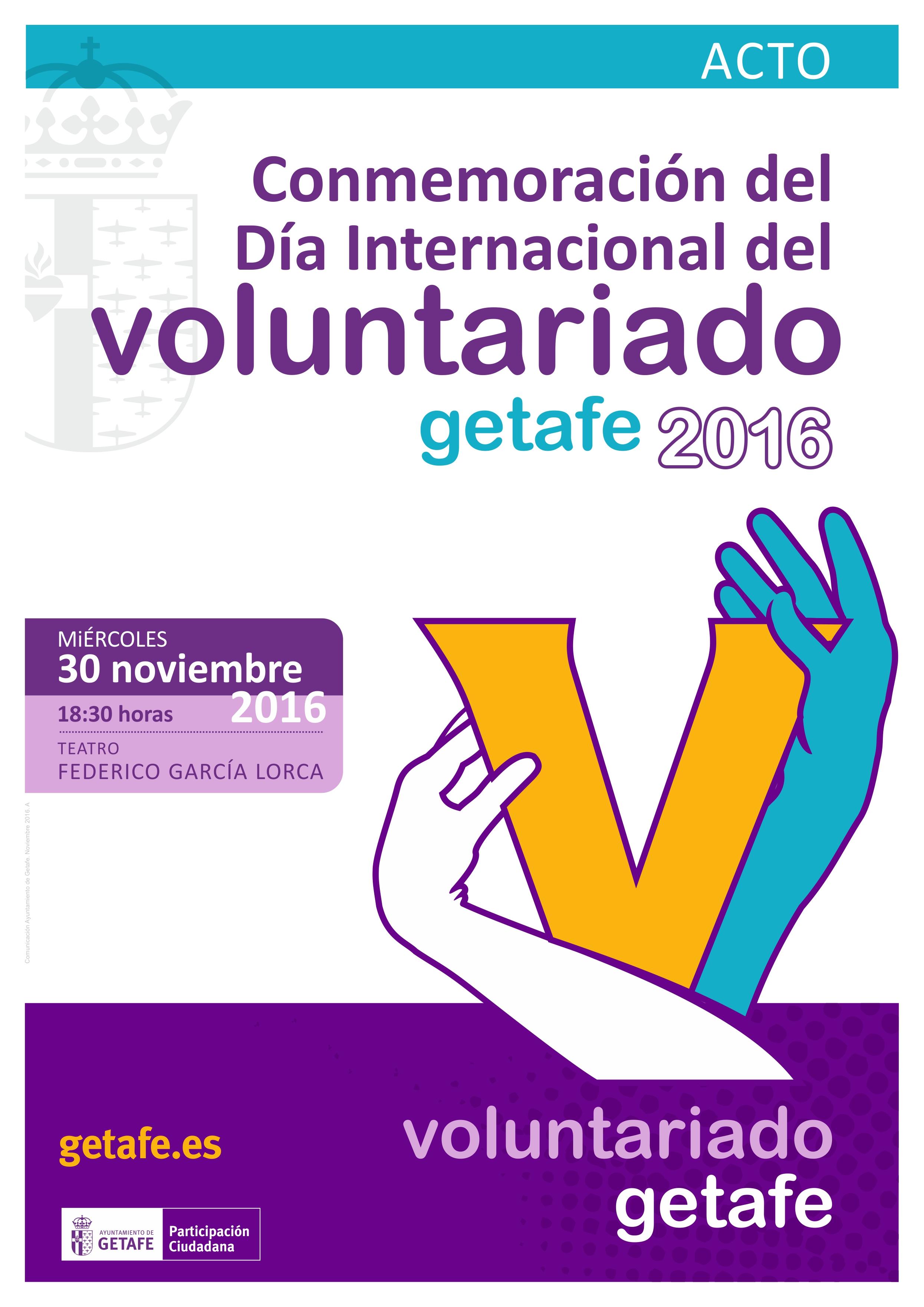 Getafe conmemora el Día Internacional del Voluntariado