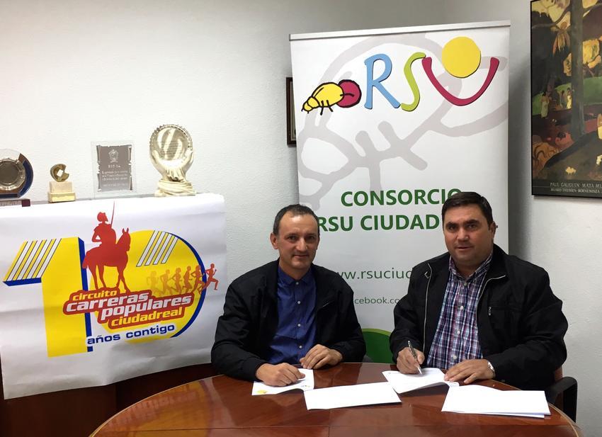 El Consorcio RSU renueva su convenio de colaboración por dos años con Carreras Populares de Ciudad Real