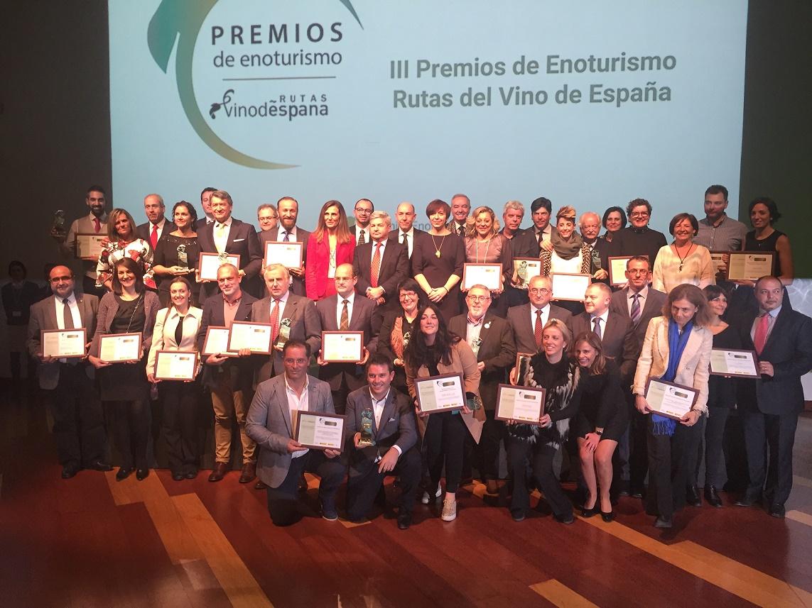 28 empresas y municipios de España galardonados por Acevin en los III Premios de Enoturismo