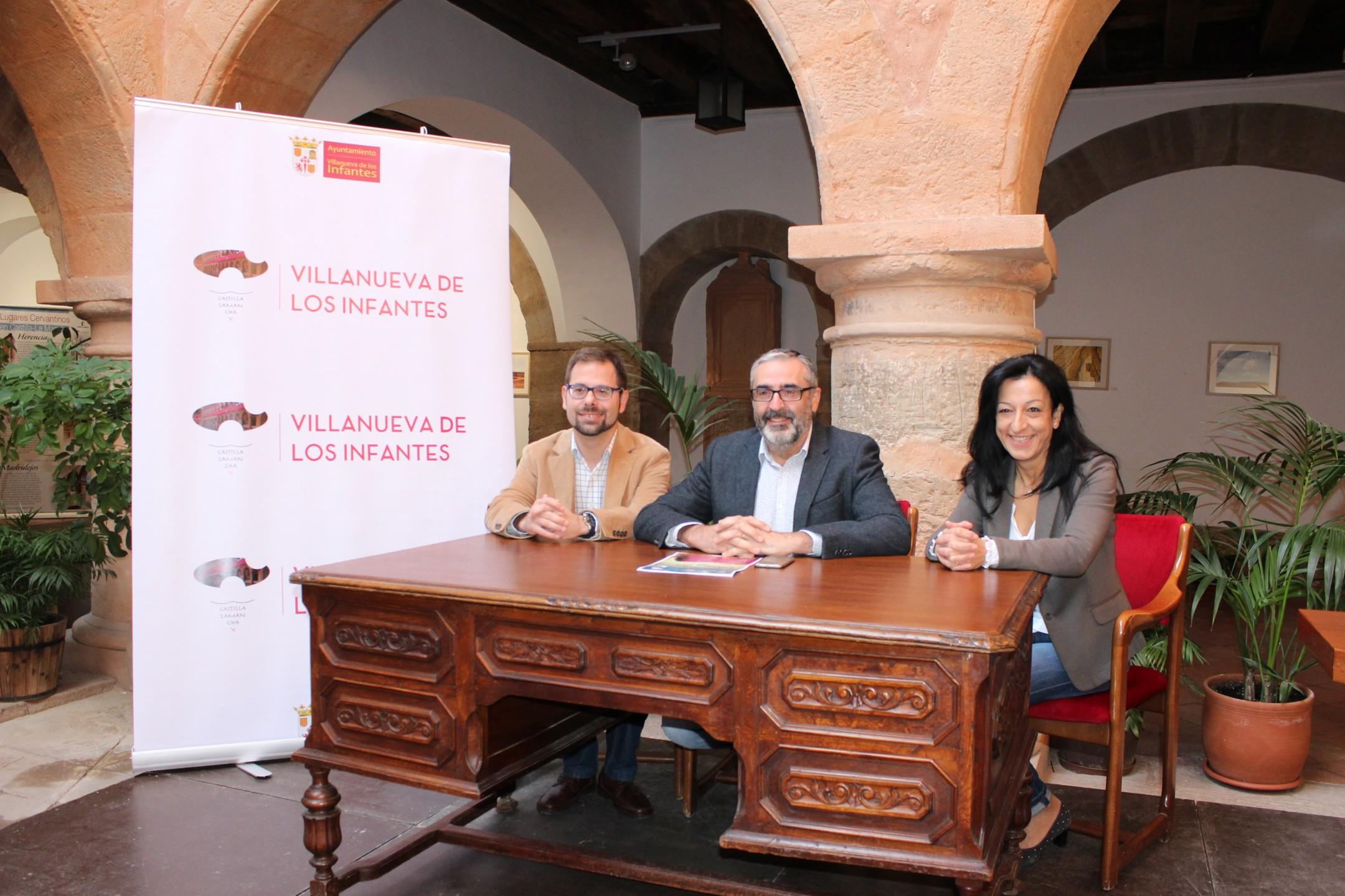 El Vicepresidente de la Diputación presenta los Encuentros con Cervantes en Villanueva de los Infantes