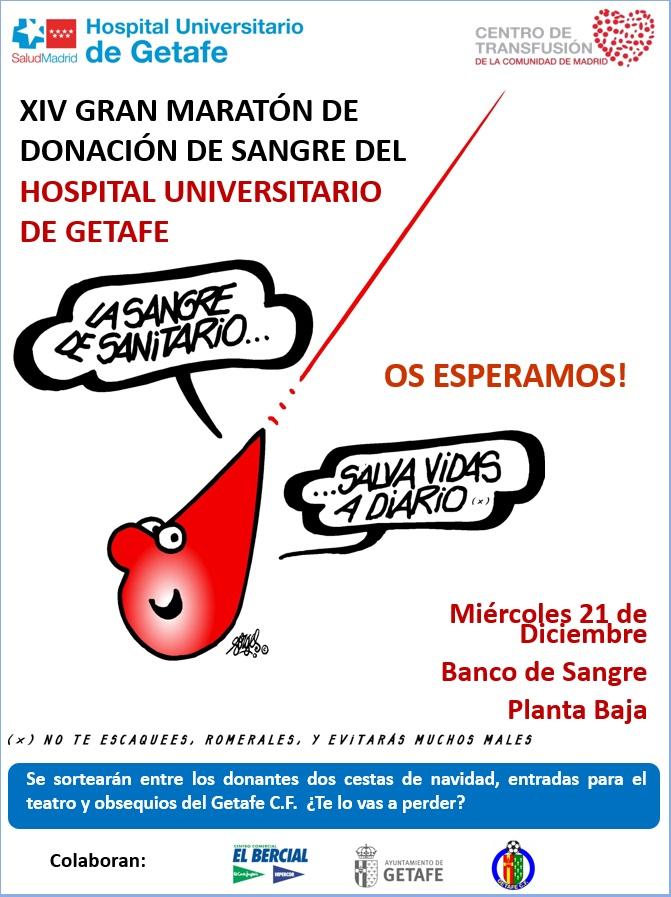 XIV Maratón de Donación de Sangre del Hospital Universitario de Getafe