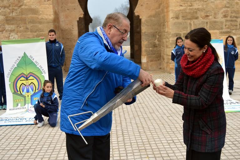El fuego de la XXXIX Olimpiada Marianista ya está en Ciudad Real