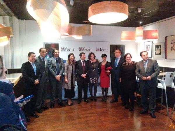 Caballero reafirma el apoyo institucional al sector empresarial de la provincia en la entrega de los II Premios FECIR
