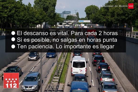 La Comunidad de Madrid recomienda extremar la precaución en carretera para evitar accidentes de tráfico