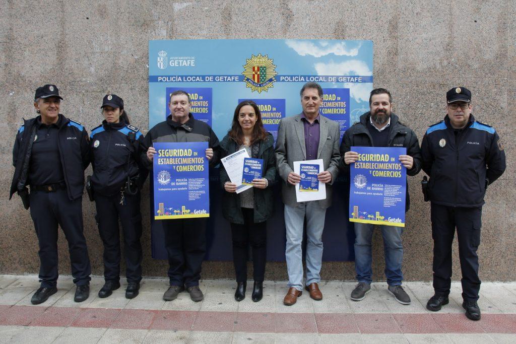 3.000 comercios y 13 galerías comerciales de Getafe se verán beneficiadas de la nueva campaña de la Policía de Barrio