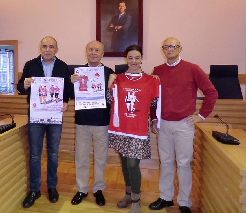 La alcaldesa de Ciudad Real también participará en la 4ª Carrera de la Mujer Solidaria contra la violencia de género del 18 de diciembre