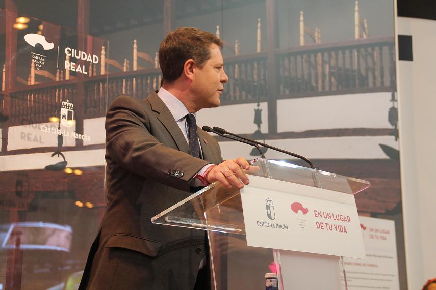 Inauguración oficial del stand de CLM en Fitur 2017 a cargo del presidente Emiliano García-Page.