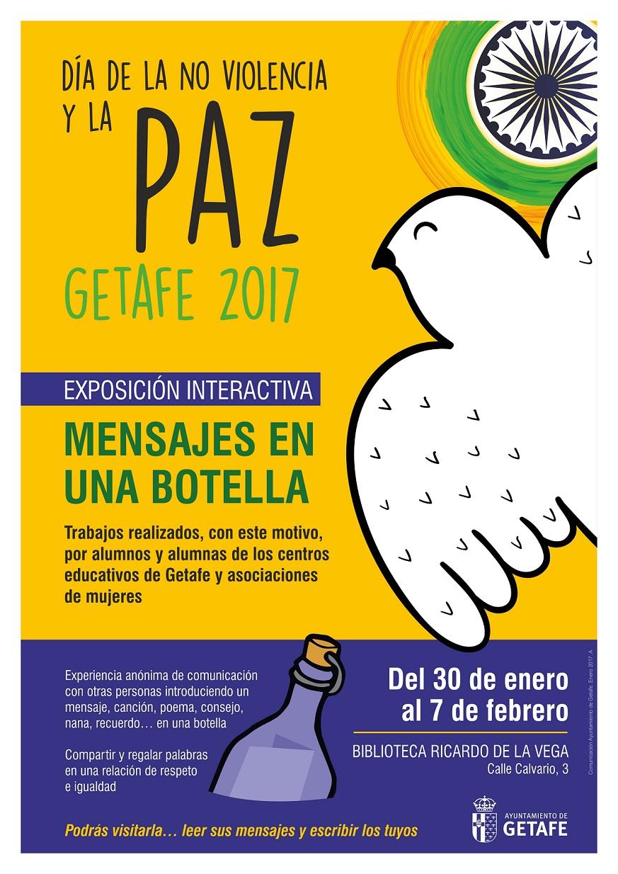 Más de 2.000 niños y niñas de Getafe mandaran «Mensajes en una botella» para celebrar el Día de la Paz