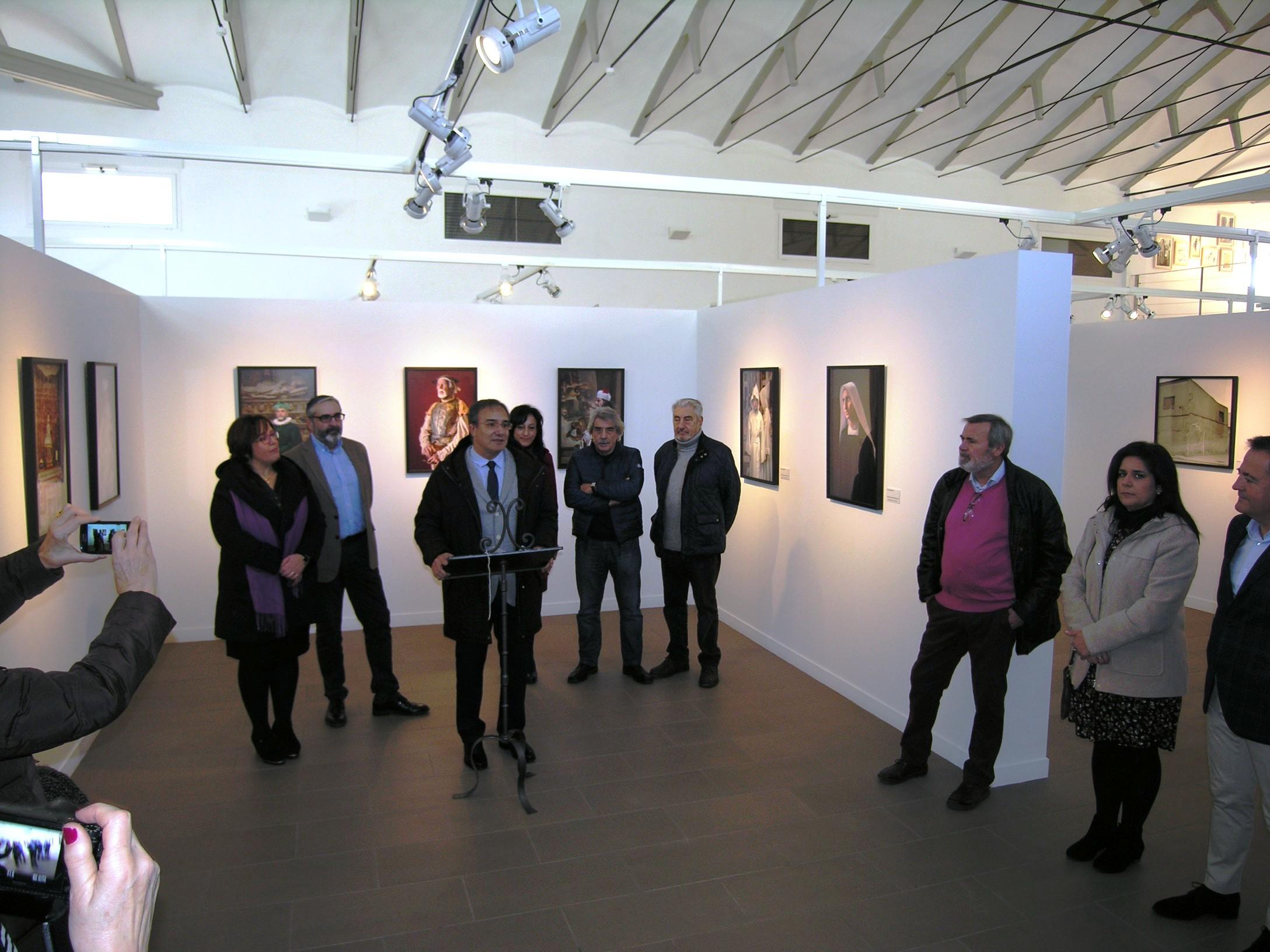 El Viceconsejero de Cultura inaugura la exposición 'El Alma de Cervantes' en el Museo El Mercado de Villanueva de los Infantes