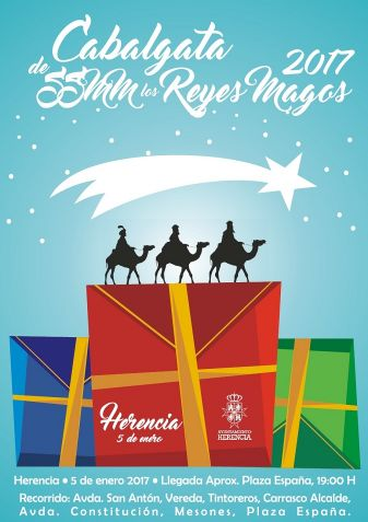 Todo preparado en Herencia ante la inminente llegada de los Reyes Magos de Oriente
